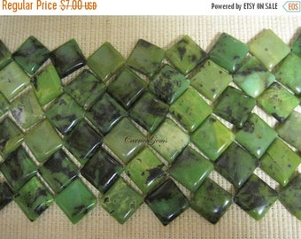 "30% OFF SALE 16"" long (16 pcs) Austrilian Jade Rhombs 20mm Beads"