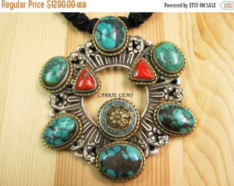 20% OFF ON SALE Hand Knotted Turquoise Necklace, Gemstone Jewelry