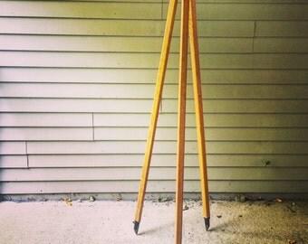 Wooden Surveyors Tripod for Industrial Lighting