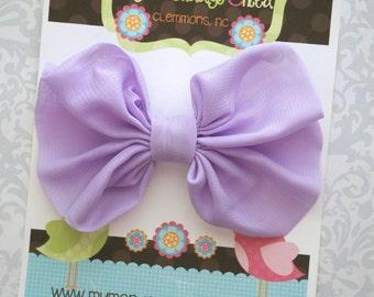 Lavender Hair Bow, Lavender Bow, Lavender Toddler Bow, Lavender Girls Bow, Toddler Bow, Hair Bow, Girls Bow, Toddler Bows, Toddler Hair Bow