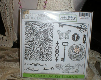 Cornish Heritage Farms KEY ELEMENTS Rubber Stamps New in pkg & Un-mounted Beautiful 2009 Retired