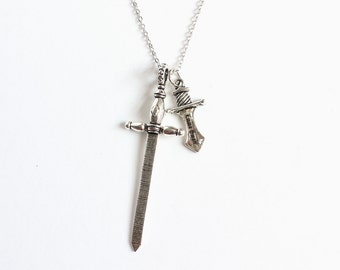Excalibur and Dark One's Dagger Necklace (OUAT)