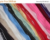 """ON SALE 10% off 75 yards PICOT edged loop stretch doll craft elastic 3/8"""" - 1/2"""" inch Free Shipping"""