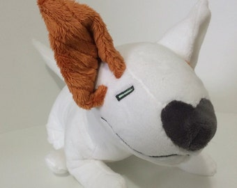 Bull terrier orange and white