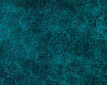 Dark Teal Blender - Scrollscapes from Quilting Treasures - Full or Half Yard Teal Scrolls, Celtic, Elegant Blender