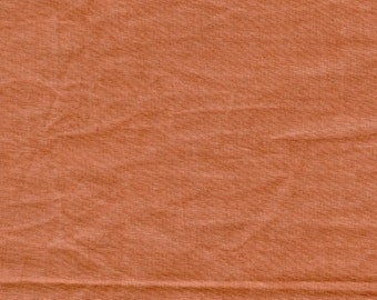 New Aged Muslin from Marcus Fabrics - Full or Half Yard Persimmon Distressed Parchment Look Blender - 7692-0129