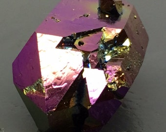 Aura quartz Crystal Titanium Rainbow DT XL Arkansas Quartz #70