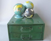 Vintage Metal Parts Drawer, Green, small parts drawers