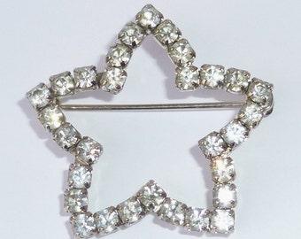 Vintage Avon Rhinestone Star Pin