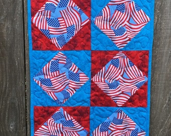 """Table Runner - Red, White And Blue 18"""" x 43"""""""