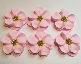 Lot of 50 Royal Icing Flowers for Cake Decorating