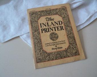 Miniature The Inland Printer. Fine Printing Magazine. July 1921.