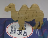 Child's Puzzle - Toy - Wooden Camel Puzzle for Child's Decor and Play