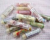 4 Tubes Of Lip Balm - Choose 4 .15oz Tubes Of Lip Balm, Lip Balm, Moisturizing Lip Balm, Natural Lip Balm, Flavored Lip Balm