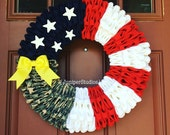 Military Patriotic Wreath Army Navy Marines Air Force Coast Guard Homecoming Deployment Support