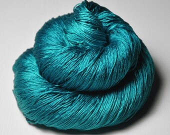 Diving into the Caribbean Sea - Silk Lace Yarn