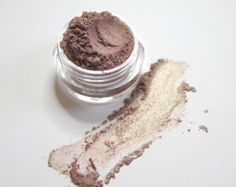 Taupe and Gold Shimmer Duochrome Eyeshadow - Nautral Eyeshadow - Mineral Makeup - DRAGONFLY