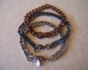 Three Metal Chain Bracelets Destash