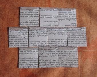 "100 Mini Black and White Envelopes - Recycled Newsletter Book Envelopes - Tiny Seed Packet Envelopes - Mini Confetti Envelopes - 1 7/8"" x 2"""