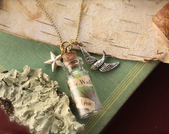 Feather Bottle Bird Necklace