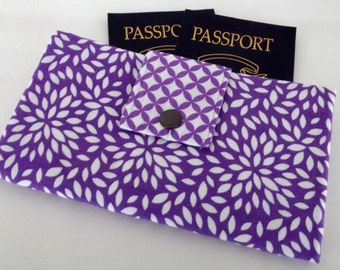 Dollbirdies Original Long Boarding Pass Passport Wallet, Travel Wallet, Passport Cover