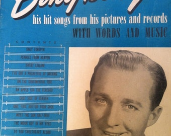 Vintage 1940's Bing Crosby Sheet Music Book -'Bing sings his hit songs' with words and music for Ukelele Piano Guitar and Banjo Bing Photo