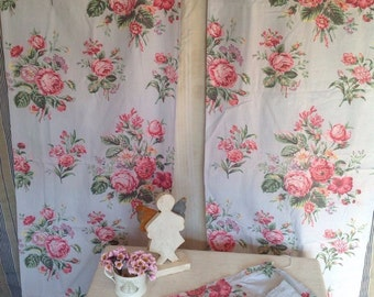 cabbage rose fabric - Vintage – Etsy SG