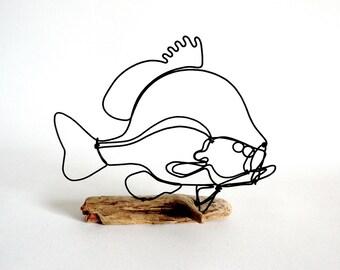 Sunfish Wire Sculpture, Fish Wire Art, Fish Art, 480236641