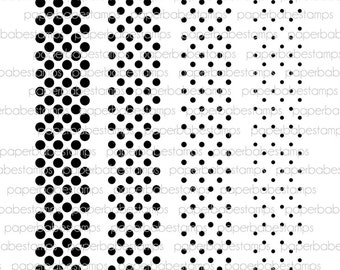 Pop Dots Stamp Set - Paperbabe Stamps - Clear Photopolymer Stamps - For paper crafting and scrapbooking.
