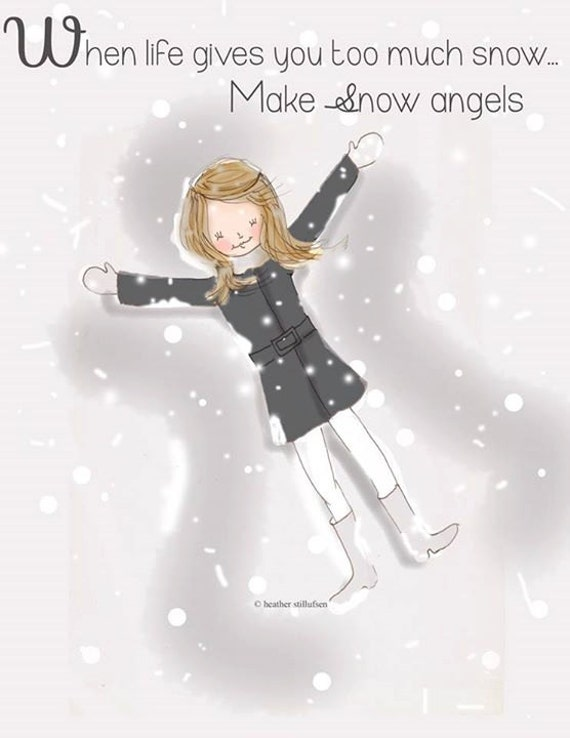 items similar to snow angels snow art winter art