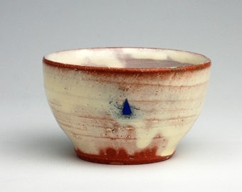 Dessert Bowl with Blue Triangle