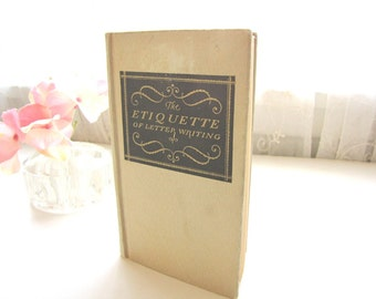 Antique Etiquette Book 1920s Letter Writing Social Correspondence from AllieEtCie