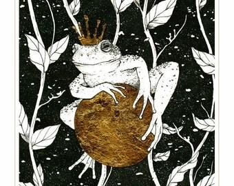Frog Prince Embellished Print