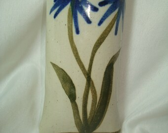 1992 Stoneware Flower Wall Sconce.