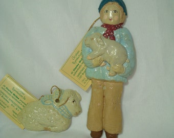 1982 Two Charlee Mc Gee Collectible Ornaments.