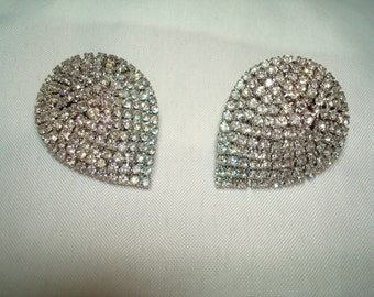 1992 Tear Drop Rhinestone shoe Clips.
