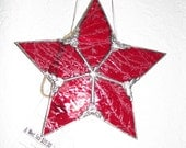 Red Glue Chip Glass 5 point star