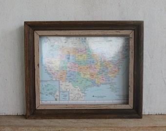 Vintage Wooden Frame // Rustic Wood Frame // Vintage Home Decor