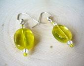 Lemon Drop Earrings ~ Repurposed Jewelry, Jewel Tone, Summer, Boho, Gift for Her