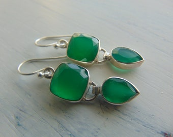 20% off Any Order Sterling Silver And Green Onyx Earrings