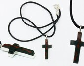 Custom Bloodstone  and Sterling Silver Cross pendant