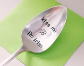 Kiss Me I'm Irish- St. Patrick's Day Vintage Coffee Spoon for (coffee) lovers