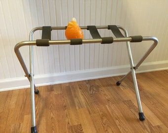 ALUMINUM LUGGAGE RACK, Mid Century Modern, Camp Decor, Industrial,  Folding Luggage Rack at Modern Logic