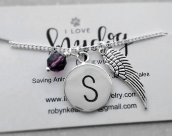 ANGEL WING NECKLACE - Jewelry, Necklaces, angel wing necklace, religious jewelry, in memory jewelry, remembrance jewelry, under 25 dollars