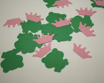 Ready to Ship! Frog Princess Die Cut Confetti - 200 pieces