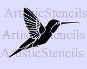 Hummingbird Stencil -Various Sizes
