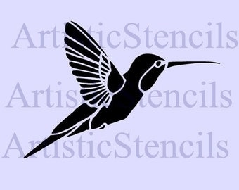 Hummingbird Stencil -Various Sizes