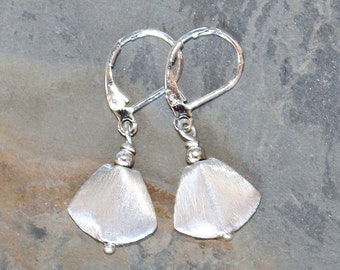 Fan Earrings, Silver Earrings, Classic Earrings, Handmade Earrings, Everyday Earrings, Elegant Earrings, Holiday Earrings, For Her
