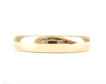 Art Deco Rose Gold Wedding Ring, 9 Carat Rose Gold Ladies D Shape Profile Band. Circa 1930s, Size M / 6.25.