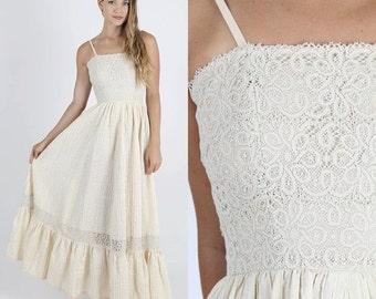 ON SALE Boho Wedding Dress Boho Dress Lace Dress Crochet Dress Bridesmaids Dress Lace Wedding Dress Hippie Dress Hippy Dress Bohemian Dress